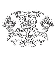 This banner shows the flowers vintage engraving vector