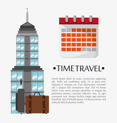 Time travel poster calendar landmark vector