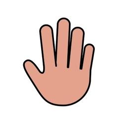 human hand icon vector image
