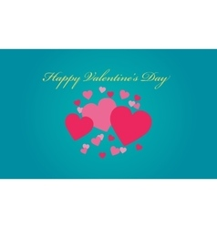 Valentine day love on blue backgrounds vector