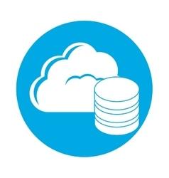 Symbol database optimization server banner icon vector