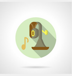 Brass music flat round icon vector