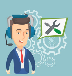 Technical support operator vector