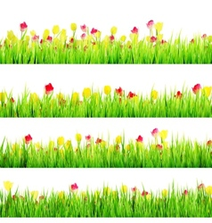 Spring meadow with white eps 10 vector