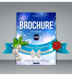 Christmas brochure template abstract flyer design vector