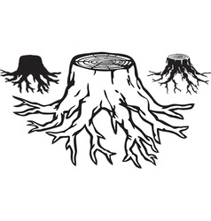 Tree stump design vector