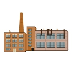 Factory industry buildings isolated vector