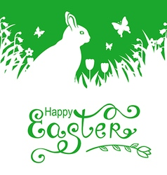Hare letter green vector
