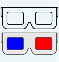 3-d glasses symbol vector
