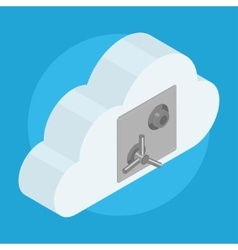 Cloud locked on safe door vector