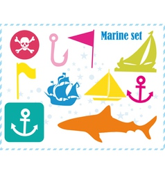 Ostcard with pirates set vector