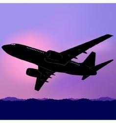 Aeroplane silhouette vector