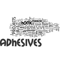 adhesives provide nail power without the nails vector image
