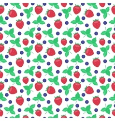 Berries strawberry seamless patterns vector