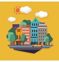 City Urban landscape flat vector image