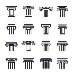 column icons 16 vector image
