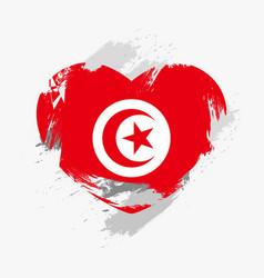 Flag of tunisia vector