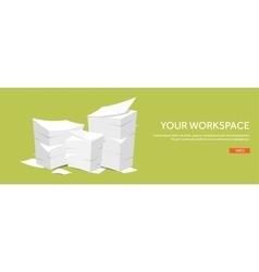 Flat background paperwork vector