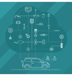 Internet Of Things For The Car vector image