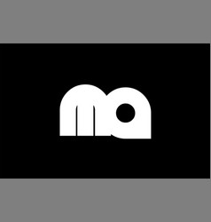 Ma m a black white bold joint letter logo vector