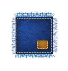 Napkin from jeans fabric vector image
