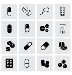 pillis icon set vector image vector image
