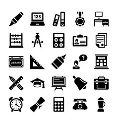 School and education icons 10 vector