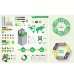 set of eco infographic vector image vector image