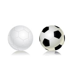 soccer balls icon set vector image vector image