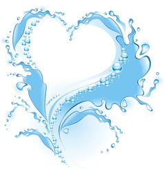 splash heart vector image vector image