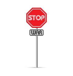 Stop war signs vector