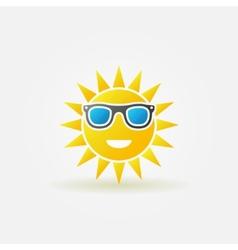 Sun with sunglasses bright icon vector image vector image