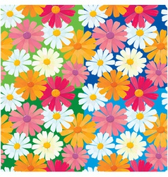 textures daisy flowers vector image