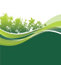 trees and leaves background vector image vector image
