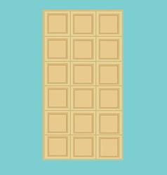 White chocolate bar vector