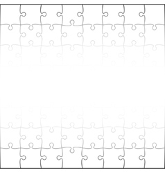 White puzzles pieces square jigsaw - 64 vector
