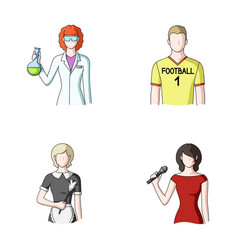 Woman chemist football player hotel maid singer vector
