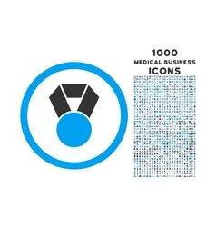 Achievement medal rounded icon with 1000 bonus vector