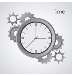 Traditional clock and gears design vector