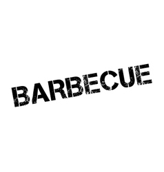 Barbecue rubber stamp vector