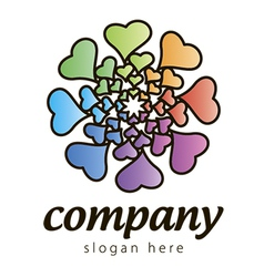 logo hearts vector image