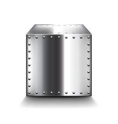 Steel box isolated on white vector