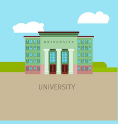 Colored univercity building vector