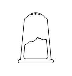 salt shaker object vector image