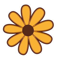 Cute sunflower isolated icon vector