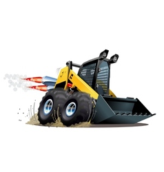 Cartoon skid steer vector