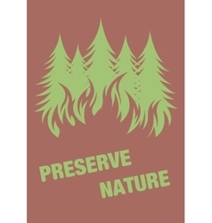 Warning poster protect the environment vector