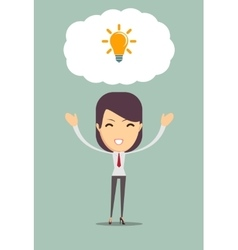 Business woman get an idea vector image vector image