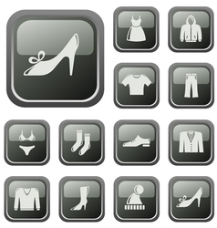 Clothes buttons vector image vector image