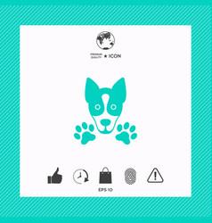 Dog paw - logo symbol protect sign vector